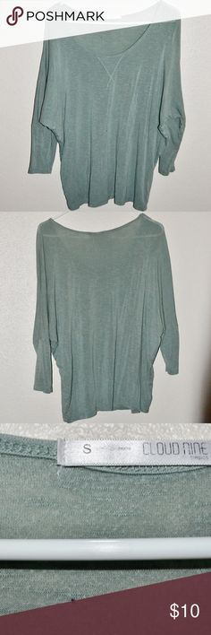 Light Green Tunic Style Shirt Cloud Nine Size Small. Only worn once or twice. Great condition. Works great with both jeans or leggings and a pair of boots! Tops Tees - Long Sleeve