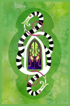 Knock Three Times - Beetlejuice Inspired illustration by Jennifer Cox