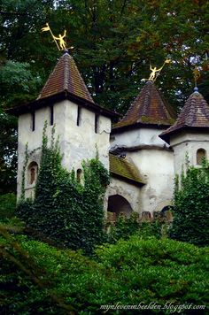Efteling, the Netherlands, which is in Kaatsheuval, my second home. If i only could live here permanently. My Dutch papa and mama had one of their wedding pictures taken in front of this castle. Storybook Homes, Storybook Cottage, Beautiful Buildings, Beautiful Places, Castle Mural, Holland Europe, Pool House Designs, Dutch Artists, Belgium