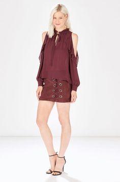 PARKER- Marjorie Blouse Cold Shoulder Blouse, Silk, Model, Dresses, Fashion, Vestidos, Moda, La Mode