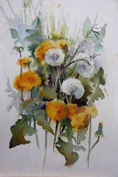 watercolor Source by kbmgriggs Watercolor Cards, Abstract Watercolor, Watercolour Painting, Watercolor Flowers, Botanical Art, Art Sketchbook, Flower Art, Pastel, Artwork