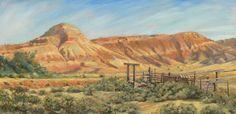 "Western Art International: Original Colorado Landscape Oil Painting ""The Old Loading Dock"" by Colorado Artist Nancee Jean Busse"