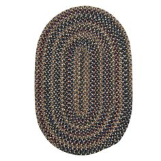Winchester Federal Blue 1 ft. 10 in. x 2 ft. 10 in. Oval Braided Accent Rug