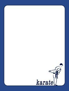 Journal Card - Karate - Lines - Photo by pixiesprite Karate, Serif Font, Disney Stuff, Clip Art, Printables, Scrapbook, Journal, Writing, Pop