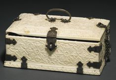 A Mughal carved ivory fitted perfume and vanity box, India, 19th century | lot | Sotheby's