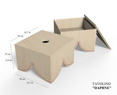 DAPHNE coffee table with red engrave G.nus furnITure & Atelier JBB