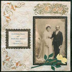 Diy scrapbooking : DIY Vintage Wedding Day Scrapbook Layout