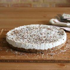 The 'bestest' light & creamy coconut lemon pie. Tastes like white, sweet, fluffy clouds. {Raw.Vegan}