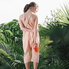 "Our Ines romper pictured in our favorite new color ""clay"" .... and a few other beautiful colors coming this SS16 :)"