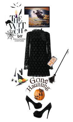 """DIY Halloween Costume"" by shortyluv718 ❤ liked on Polyvore featuring Giambattista Valli, Meri Meri, Casetify, Marc Jacobs, Improvements, Lipstick Queen, Christian Louboutin, halloweencostume and DIYHalloween"