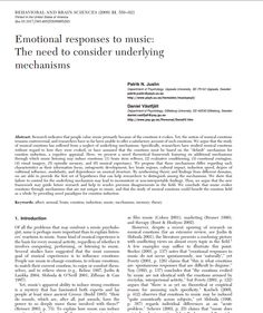 http://nemcog.smusic.nyu.edu/docs/JuslinBBSTargetArticle.pdf ----- Emotional responses to music, a music psychology paper.