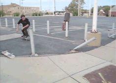 Skateboard High Five.gif