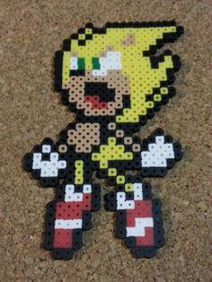 Super Sonic Bead Sprite  Sonic the Hedgehog  8 by DCBPerlerSprites
