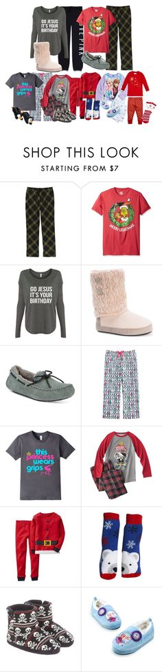 """""""Love Story Part 121: Christmas Morning at the Hotel"""" by modestlygracie ❤ liked on Polyvore featuring Pendleton, Victoria's Secret, Muk Luks, UGG, Carter's and Disney"""