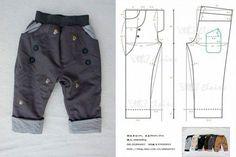 moldes-de-conjuntos-para-ninos-2 Baby Dress Patterns, Baby Clothes Patterns, Kids Patterns, Clothing Patterns, Sewing Patterns, Sewing Kids Clothes, Girl Doll Clothes, Baby Boy Outfits, Kids Outfits