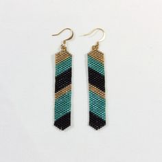 Pendientes Acoma 0.4.  Delica beads earrings. Handmade in Spain.  Shop at www.cucareliquia.com