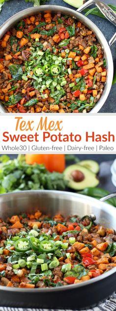 Tex Mex Sweet Potato Hash  #justeatrealfood #therealfoodrds