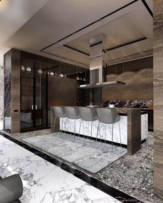 Want to Know More About Modern Kitchen Design Ideas? Commercial Interior Design, Commercial Interiors, Modern Kitchen Design, Modern House Design, Home Decor Kitchen, Kitchen Interior, Luxury Apartments, Luxury Homes, Kitchen Modular