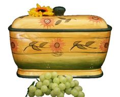 Amazon.com: BREAD BOX, TOAST JAR CANISTER SUNFLOWER YELLOW: Home & Kitchen 39prime