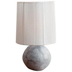 Bolo Ceramic Table Lamp with Custom Lampshade