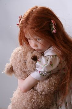 Little Girl With Red Hair And Freckles