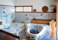 George Nakashima's sublime Japanese-style bathroom endures at his rural estate.