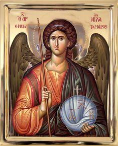 Byzantine Icons, Byzantine Art, Religious Icons, Religious Art, Archangel Michael, Guardian Angels, Patron Saints, Orthodox Icons, Sacred Art