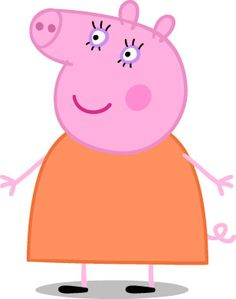Peppa Pig Television Show Characters: Mummy Pig Mummy Pig is usually mummy so that you Pig Birthday Cakes, 2nd Birthday, Peppa Pig Pictures, Pig Png, Peppa Pig Shirt, Aniversario Peppa Pig, Cumple Peppa Pig, Pig Character, Pig Party
