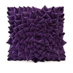 purple flower pillow