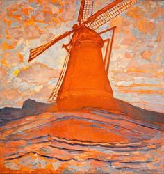 Piet Mondrian (Dutch, 1872-1944) - Windmill, 1917