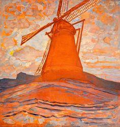 Piet Mondrian (Dutch, 1872-1944) - Windmill, 1917