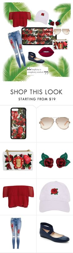 """""""rose red"""" by kalli124 ❤ liked on Polyvore featuring Dolce&Gabbana, Chloé, Atelier Swarovski, Keepsake the Label, Armitage Avenue, Jessica Simpson and Lime Crime"""