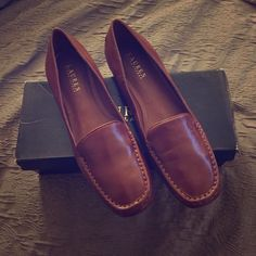 Ralph Lauren Loafers Brand New never worn Clara Tan Nappa Ralph Lauren loafers. Ralph Lauren Shoes Flats & Loafers