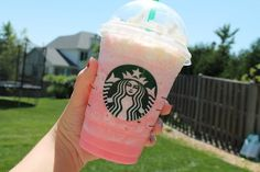 Starbucks Cotton Candy Frap it's a vanilla bean with a pump of raspberry. i love raspberry so this was a must