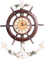 Fiberglass Anchor and  ship wheel clock, #Nautical, #Clock, #Shipwheel, #Pirate, #NauticalDecor, #BeachDecor, #Tropical