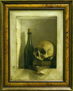 Allegory with Skull   Antoine Wiertz