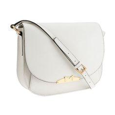 Marc Fisher Harper Leather Saddle Bag ($197) ❤ liked on Polyvore