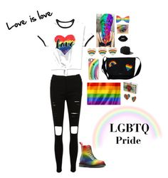 """LOVE IS LOVE !"" by blackrosebeauty ❤ liked on Polyvore featuring Casetify, Kate Spade, Lime Crime, GEDEBE, Betsey Johnson, Anya Hindmarch and pride"