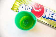 edible shot glasses made from Air Heads --complete with shamrock in the bottom! from Lovely Indeed