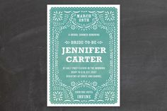 Fiesta Folk Art Bridal Shower Invitations by root beer float at minted.com