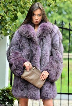 NEW ROYAL SAGA FOX FUR COAT CLASS- LONG JACKET SABLE MINK CHINCHILLA MINK SILVER