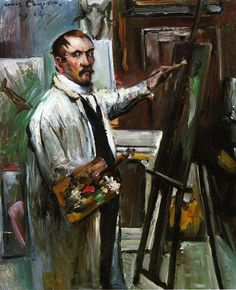 The Athenaeum - Self Portrait in the Studio, 1914 (Lovis Corinth - )