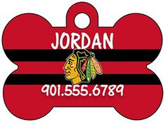 Chicago Blackhawks Dog Tag Pet Id Tag Personalized w Name  Number >>> Read more  at the image link. (Note:Amazon affiliate link)