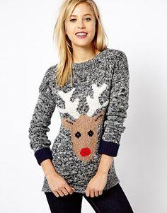 Bild 1 von A|Wear – Pullover mit Rentiermuster