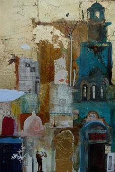 Layered Oxford by Emmie van Biervliet - Mixed media on board 16 x 24ins http://www.emmievb.com/index.php/gallery/recent-work