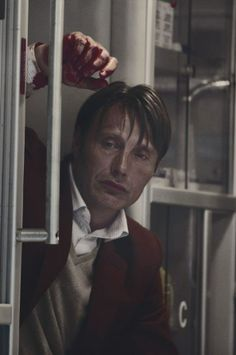 Hannibal. The blood on his hand alludes to so much, yet it's so beautiful.