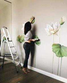 Home Decor Accessories Bedroom Wall Designs, Bedroom Murals, Wall Art Designs, Wall Painting Decor, Mural Wall Art, Creative Wall Painting, Wall Drawing, Home Room Design, Decoration