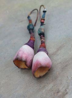 hedgerow.. pod earrings by greybirdstudio on Etsy