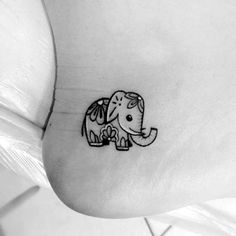 Insanely Cute and Small Tattoo Ideas Update) 45 Insanely Cute and Small Tattoo Ideas Update) Made by Cute little elephant More Beste Tattoo Elefant Liebe Tat Ideen Small Elephant Tattoo Designs Mama Tochter Tätowierung - Tattoos - It is cute, . Unique Small Tattoo, Small Tattoo Designs, Tattoo Designs For Women, Tattoos For Women Small, Ankle Tattoo Small, Small Tattoos For Sisters, Small Mandala Tattoo, Diy Tattoo, Get A Tattoo