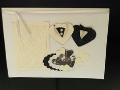 Wedding congratulations: two men (or women in tuxedos) - black & white (1)